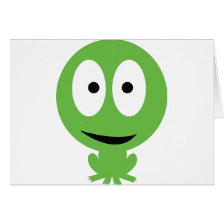 icono de la rana verde tarjeta de felicitación