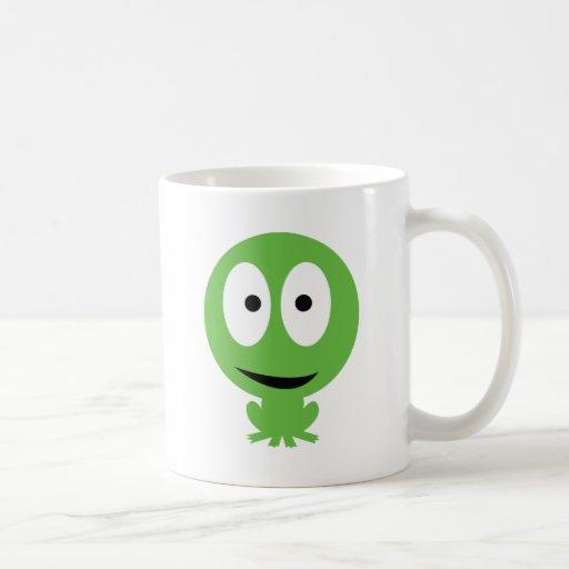 icono de la rana verde tazas