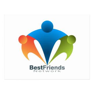 Icono de la red del mejor amigo tarjetas postales