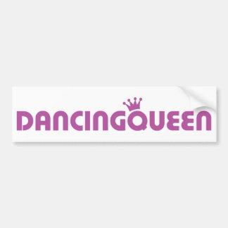 icono de la reina del baile etiqueta de parachoque
