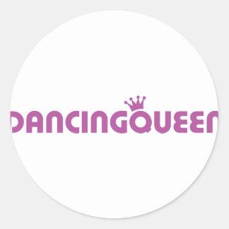 icono de la reina del baile pegatinas redondas