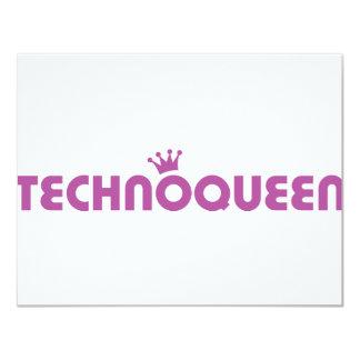 icono de la reina del techno invitación 10,8 x 13,9 cm