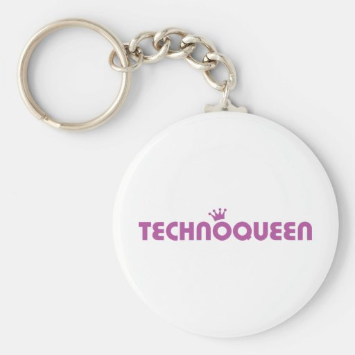 icono de la reina del techno llavero personalizado