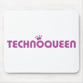 icono de la reina del techno tapetes de ratones