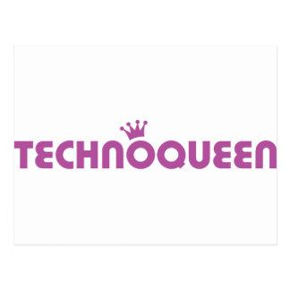 icono de la reina del techno tarjetas postales