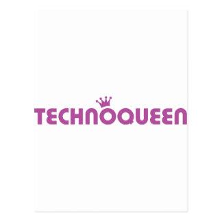 icono de la reina del techno tarjeta postal