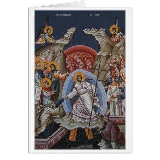 Icono de la resurrección de Cristo Tarjeta De Felicitación
