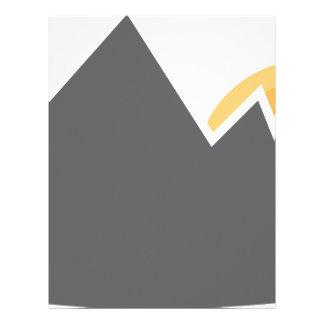 Icono de la salida del sol de la cordillera membretes personalizados
