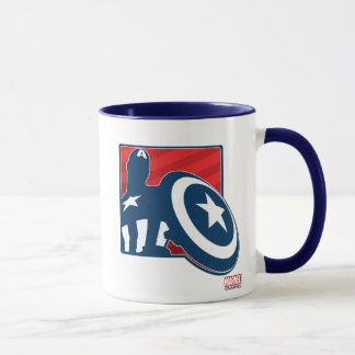 Icono de la silueta de capitán América Taza