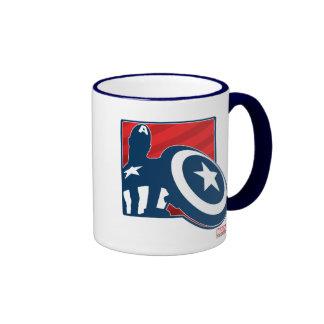 Icono de la silueta de capitán América Taza De Dos Colores