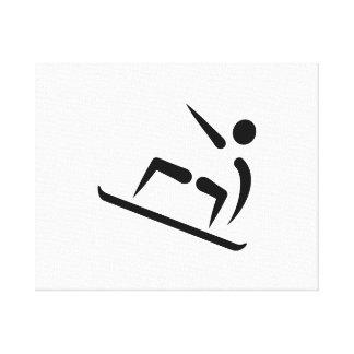 Icono de la snowboard del estilo libre impresiones en lona estiradas
