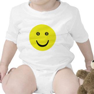 icono de la sonrisa del dólar trajes de bebé