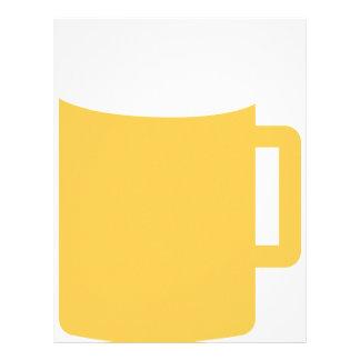 icono de la taza de cerveza membrete