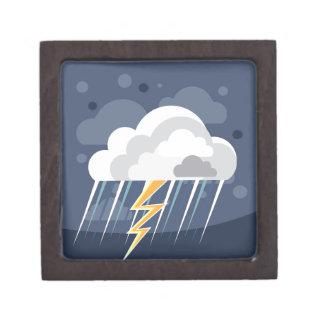 Icono de la tormenta del tiempo severo caja de recuerdo de calidad