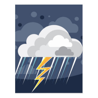 Icono de la tormenta del tiempo severo tarjetas postales