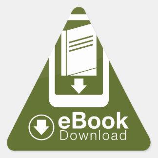 icono de la transferencia directa del eBook Pegatina Triangular