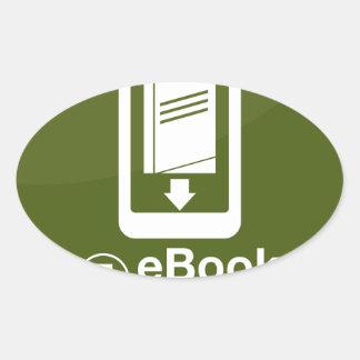 icono de la transferencia directa del eBook Pegatina Ovalada