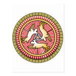 Icono de la trinidad santa postal
