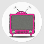 icono de la TV/de la televisión Pegatinas Redondas