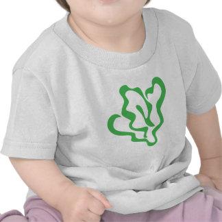 Icono de la verdura de la espinaca camisetas