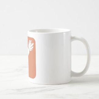 Icono de la verdura del rábano taza básica blanca