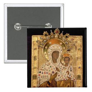 Icono de la Virgen, monasterio de Smolenskaja Pin Cuadrada 5 Cm