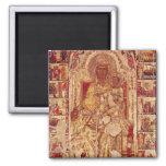 Icono de la Virgen y del niño, c.1300 Imanes De Nevera