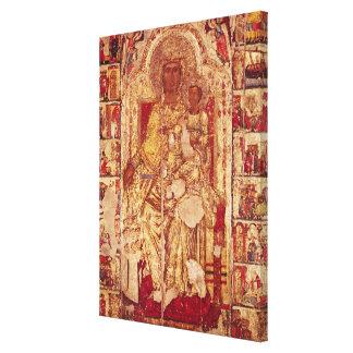 Icono de la Virgen y del niño, c.1300 Lona Estirada Galerías
