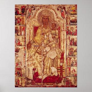 Icono de la Virgen y del niño, c.1300 Póster