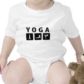 icono de la yoga traje de bebé