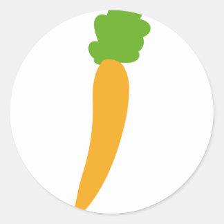 icono de la zanahoria del vegie pegatina