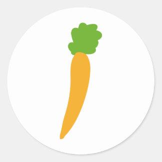 icono de la zanahoria del vegie pegatinas redondas