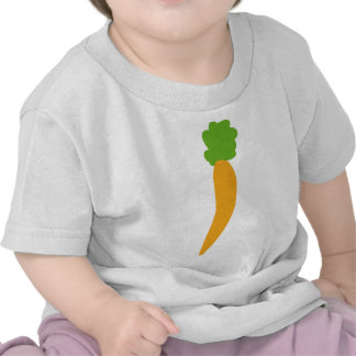 icono de la zanahoria del vegie camisetas