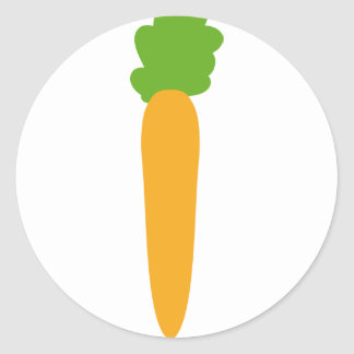 icono de la zanahoria etiquetas redondas