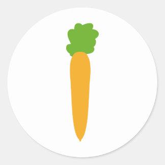icono de la zanahoria pegatinas redondas