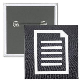Icono de las escrituras pin cuadrada 5 cm
