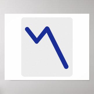 Icono de las estadísticas de la carta póster