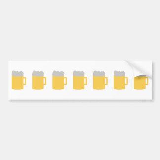 icono de las tazas de cerveza etiqueta de parachoque