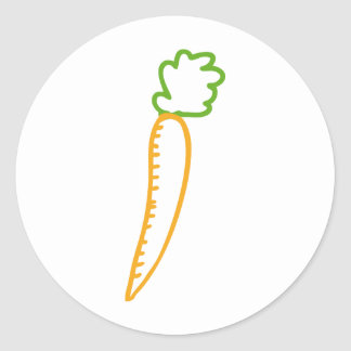 icono de las zanahorias pegatinas redondas