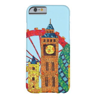 Icono de Londres que construye Mozaic Funda De iPhone 6 Barely There
