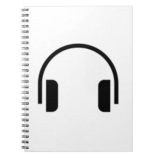 Icono de los auriculares cuadernos