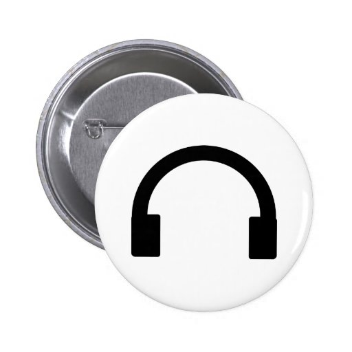 icono de los auriculares pin redondo 5 cm