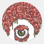Icono de los cerebros de Osiris Pegatina Redonda