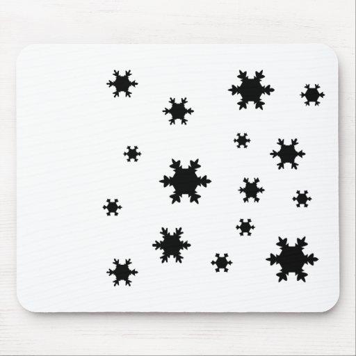 icono de los copos de nieve alfombrillas de ratones