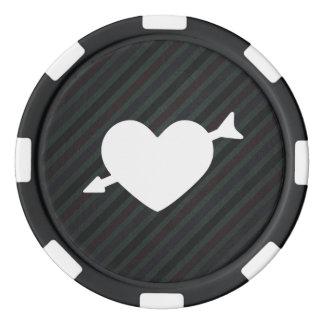 Icono de los corazones del Cupid Fichas De Póquer