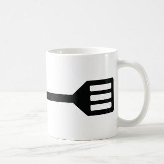 icono de los cubiertos de la barbacoa taza de café