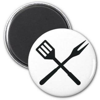 Icono de los cubiertos del Bbq Imanes Para Frigoríficos