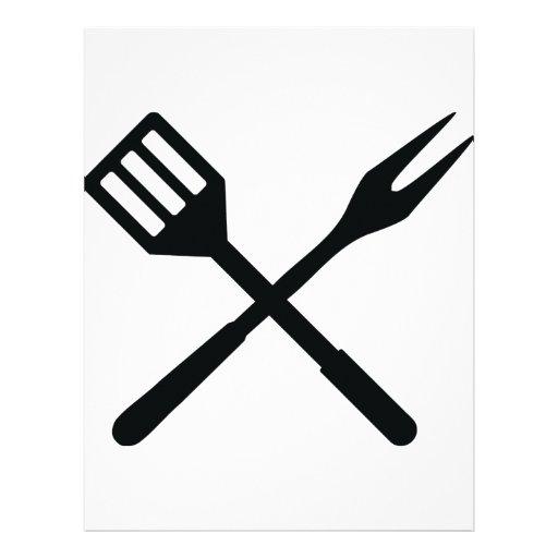 Icono de los cubiertos del Bbq Membrete A Diseño