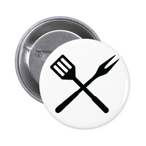 Icono de los cubiertos del Bbq Pin Redondo 5 Cm