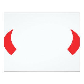 icono de los cuernos del diablo rojo invitación 10,8 x 13,9 cm